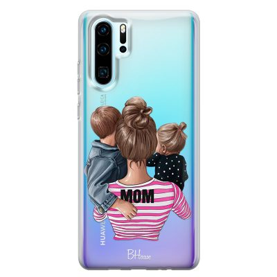 Mom Of Girl And Boy Coque Huawei P30 Pro