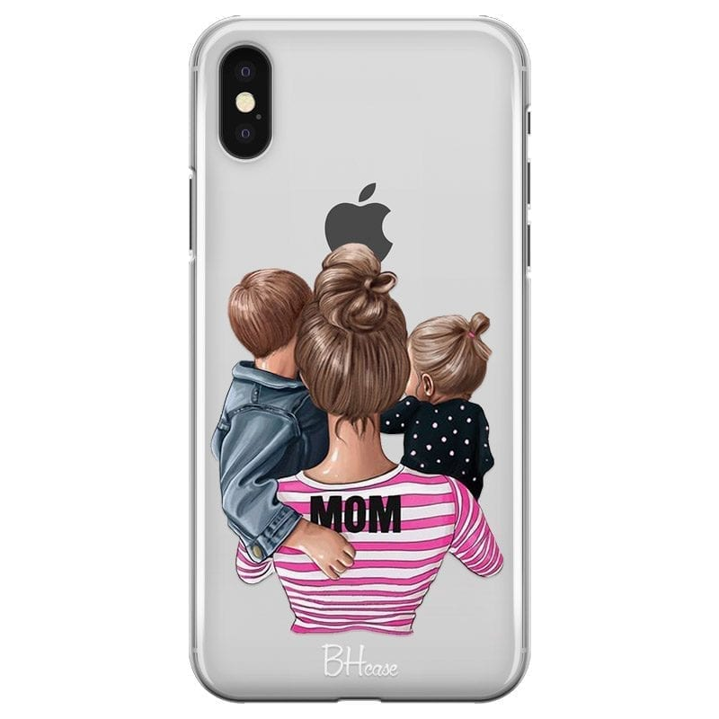 Mom Of Girl And Boy Coque iPhone X/XS