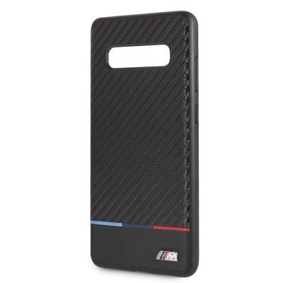 BMW Carbon Tricolor Stripe Coque Samsung S10 Plus