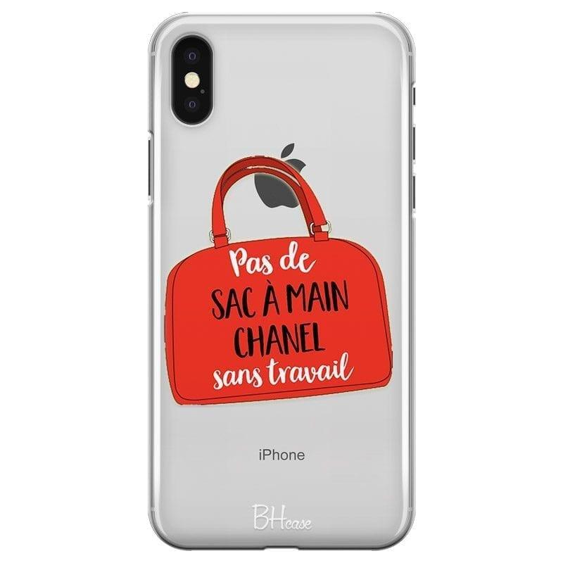Pas De Sac À Main Chanel Sans Travail Coque iPhone X/XS
