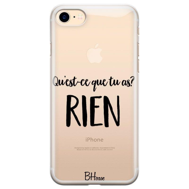 Qu'est-ce Que Tu As Coque iPhone 8/7/SE 2 2020