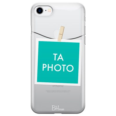 Coque avec photo encadrée pour iPhone 8/7/SE 2 2020