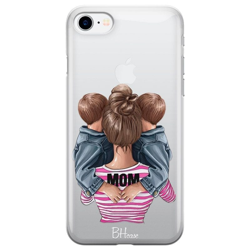 Mom Of Boy Twins Coque iPhone 8/7/SE 2 2020