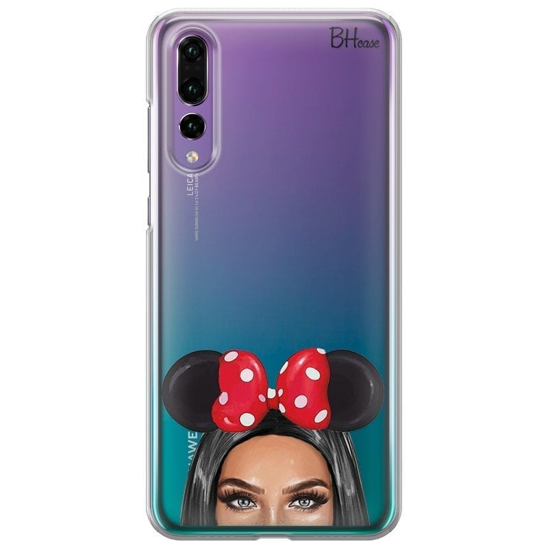 Black Haired Girl With Ribbon Coque Huawei P20 Pro