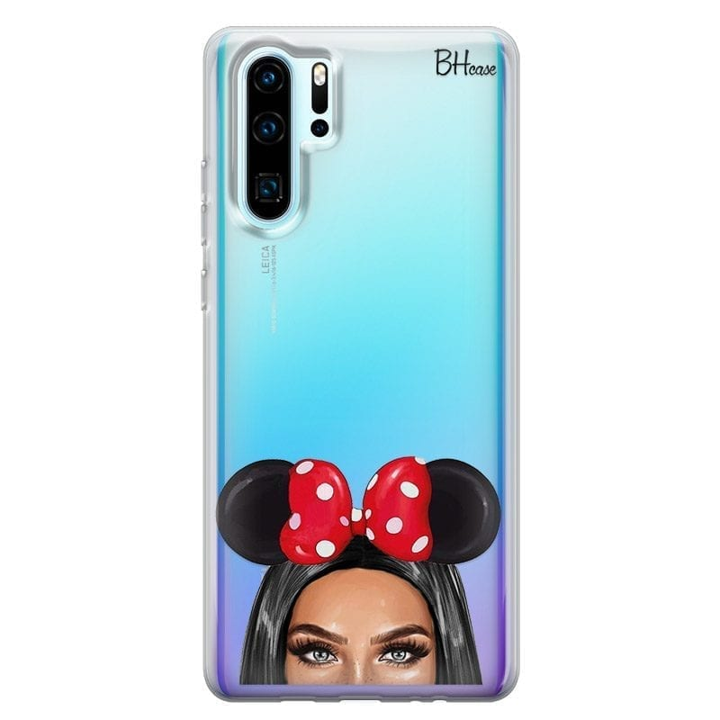 Black Haired Girl With Ribbon Coque Huawei P30 Pro