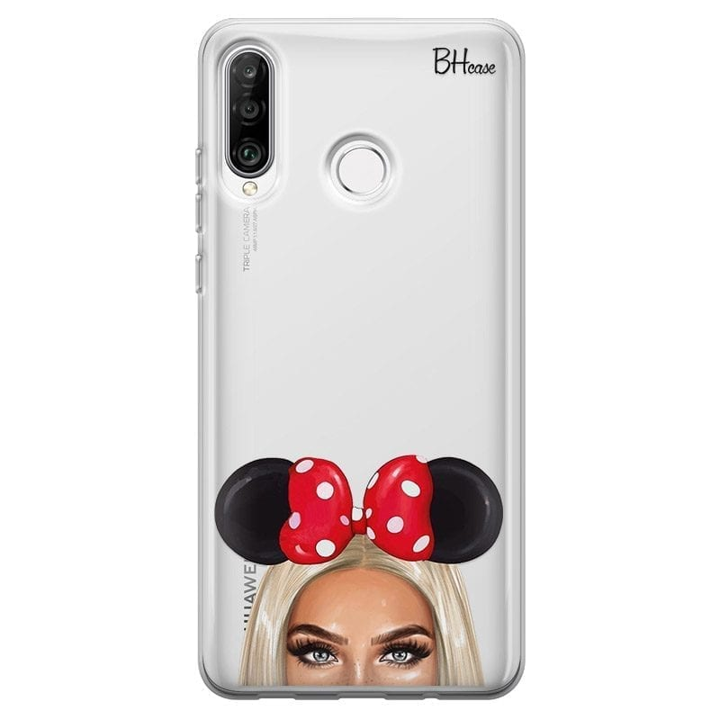 Blonde Girl With Ribbon Coque Huawei P30 Lite