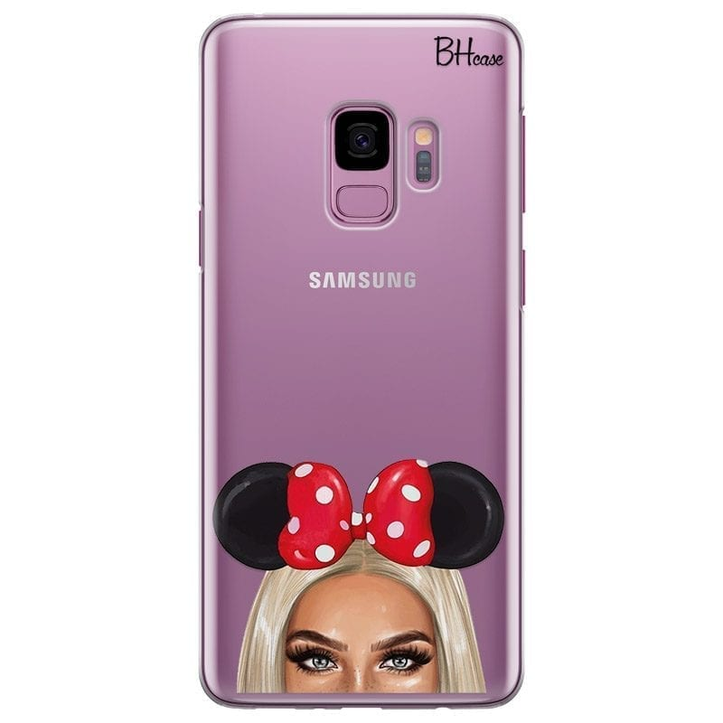 Blonde Girl With Ribbon Coque Samsung S9