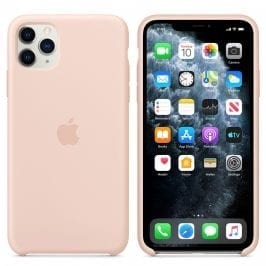 Apple Pink Sand Silicone Coque iPhone 11 Pro Max