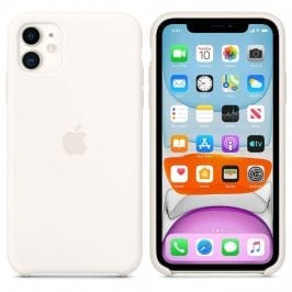 Apple White Silicone Coque iPhone 11