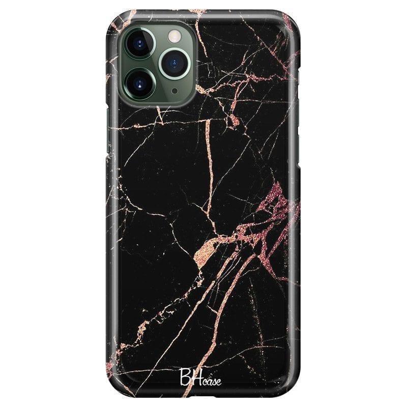 Black Rose Marble Coque iPhone 11 Pro Max