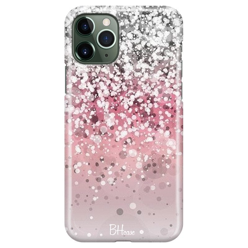 Glitter Pink Silver Coque iPhone 11 Pro Max