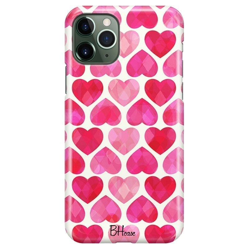 Hearts Pink Coque iPhone 11 Pro Max