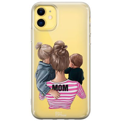 Mom Of Boy And Girl Coque iPhone 11