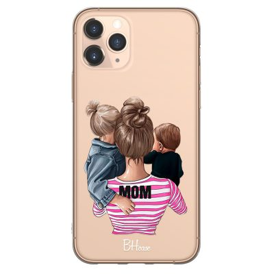 Mom Of Boy And Girl Coque iPhone 11 Pro