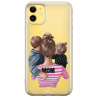 Mom Of Girl And Boy Coque iPhone 11