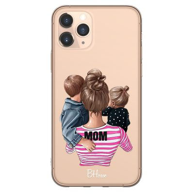 Mom Of Girl And Boy Coque iPhone 11 Pro