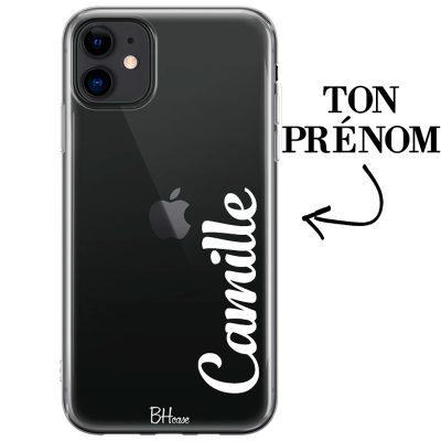 Coque avec vertical prénom pour iPhone 11