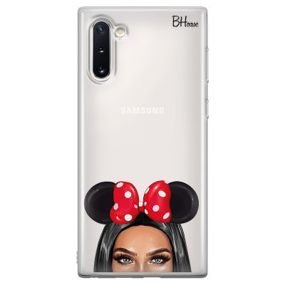 Black Haired Girl With Ribbon Coque Samsung Note 10