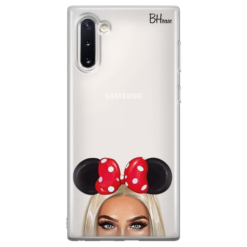 Blonde Girl With Ribbon Coque Samsung Note 10