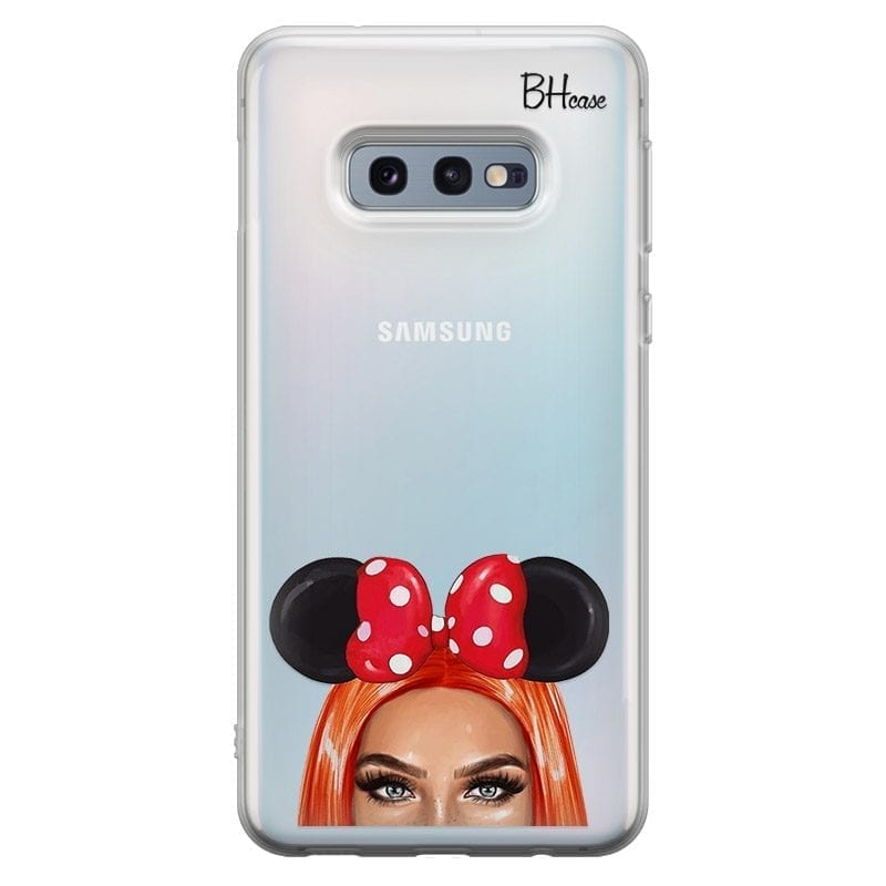 Redhead Girl With Ribbon Coque Samsung S10e