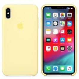 Apple Mellow Yellow Silicone Coque iPhone XS Max