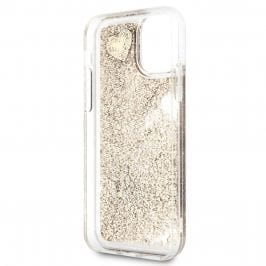 Guess Glitter Hearts Gold Coque iPhone 11 Pro Max