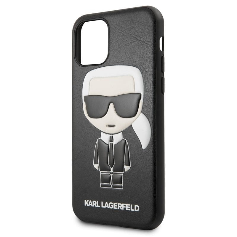Karl Lagerfeld Karl and Choupette Black Coque iPhone 11