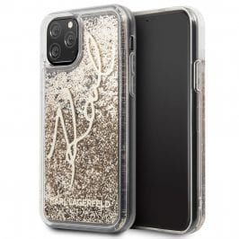 Karl Lagerfeld Glitter Signature Coque iPhone 11 Pro Max
