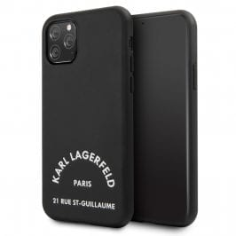 Karl Lagerfeld Rue St Guillaume Silicone Black Coque iPhone 11