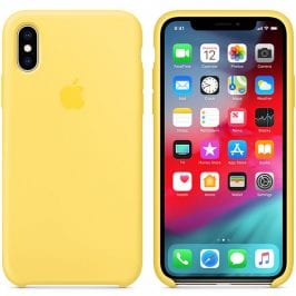 Apple Canary Yellow Silicone Coque iPhone XS Max