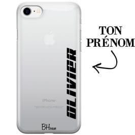 Coque avec vertical prénom pour iPhone 8/7/SE 2 2020
