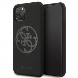 Guess 4G Tone on Tone Black Coque iPhone 11