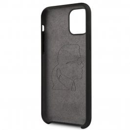Karl Lagerfeld Iconic Silicone Black Coque iPhone 11 Pro Max
