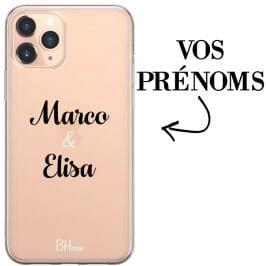 Coque avec deux prénoms pour iPhone 11 Pro Max