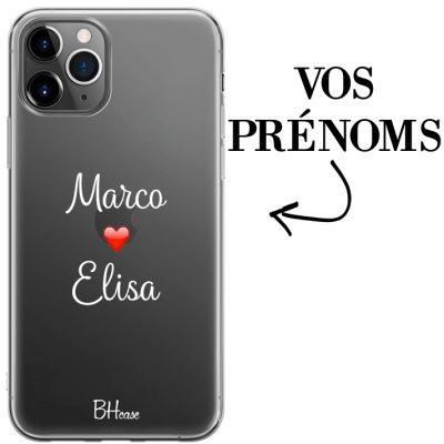 Coque avec deux prénoms pour iPhone 11 Pro