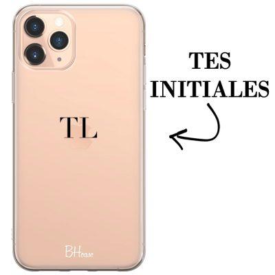 Coque avec des initiales pour iPhone 11 Pro