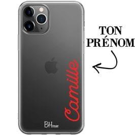 Coque avec vertical prénom pour iPhone 11 Pro Max