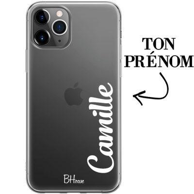 Coque avec vertical prénom pour iPhone 11 Pro