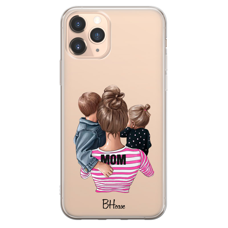 Mom Of Girl And Boy Coque iPhone 11 Pro Max