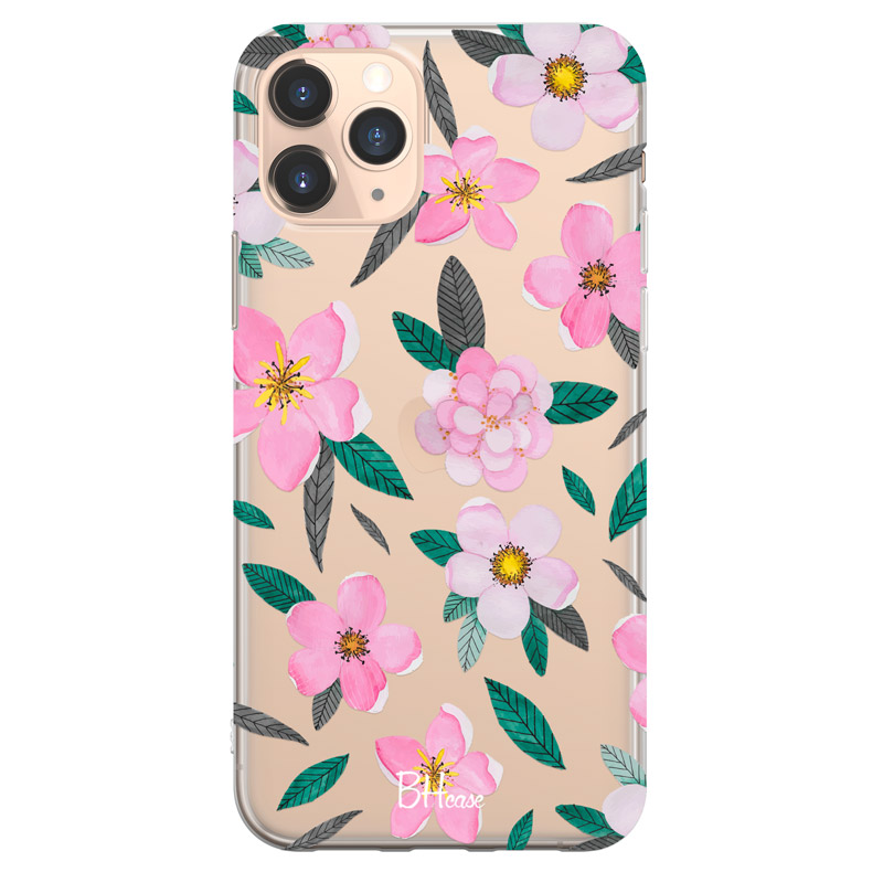 Pink Floral Coque iPhone 11 Pro Max