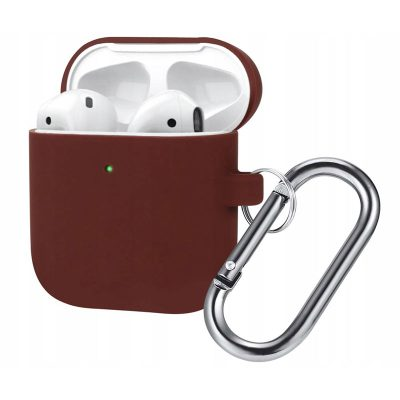 Silicone Protective Coque For Airpods Burgundy