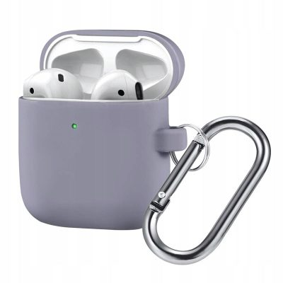 Silicone Protective Coque For Airpods Lavender