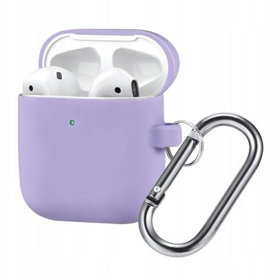 Silicone Protective Coque For Airpods Purple