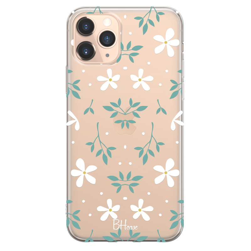 White Floral Coque iPhone 11 Pro Max