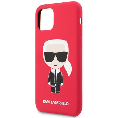 Karl Lagerfeld Iconic Full Body Silicone Red Coque iPhone 11
