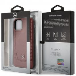 Mercedes Perforation Leather Red Coque iPhone 11