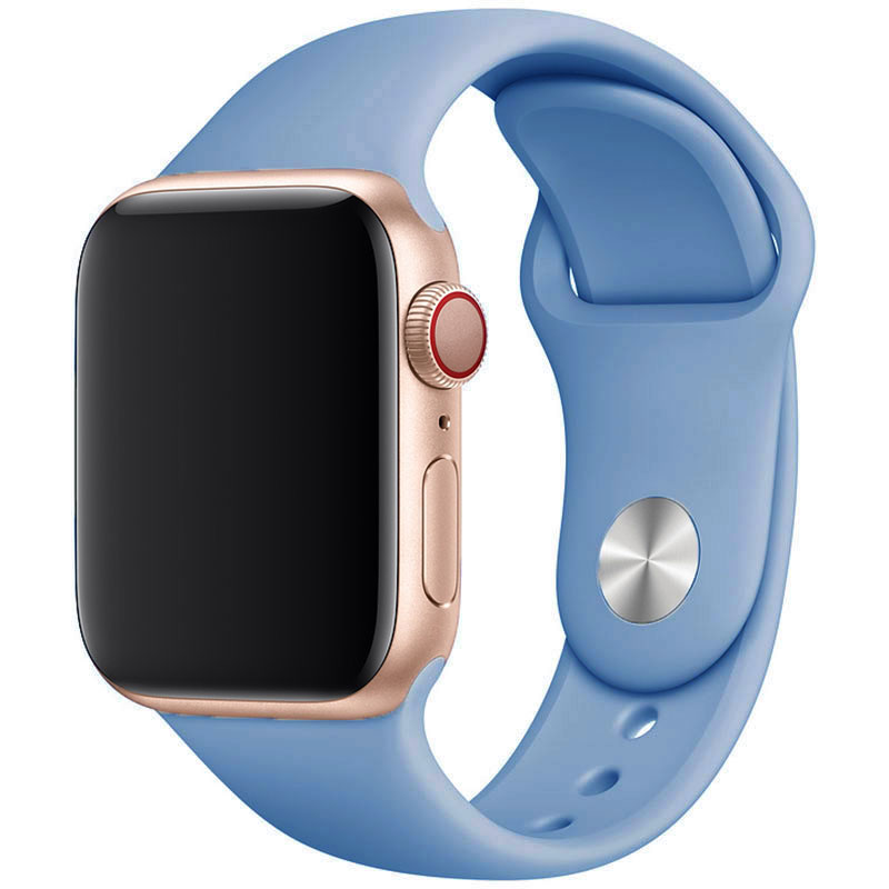 Silicone Bracelet Apple Watch 42/44mm Cornflower Blue Large