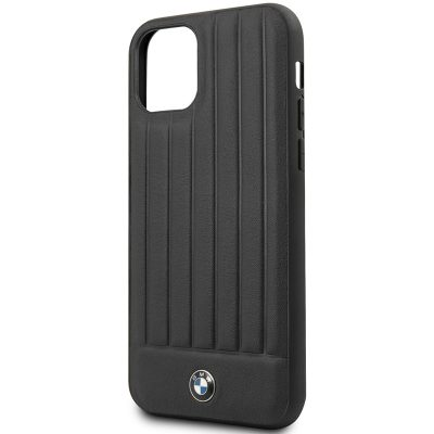 BMW Real Leather Hard Case Black Coque iPhone 11