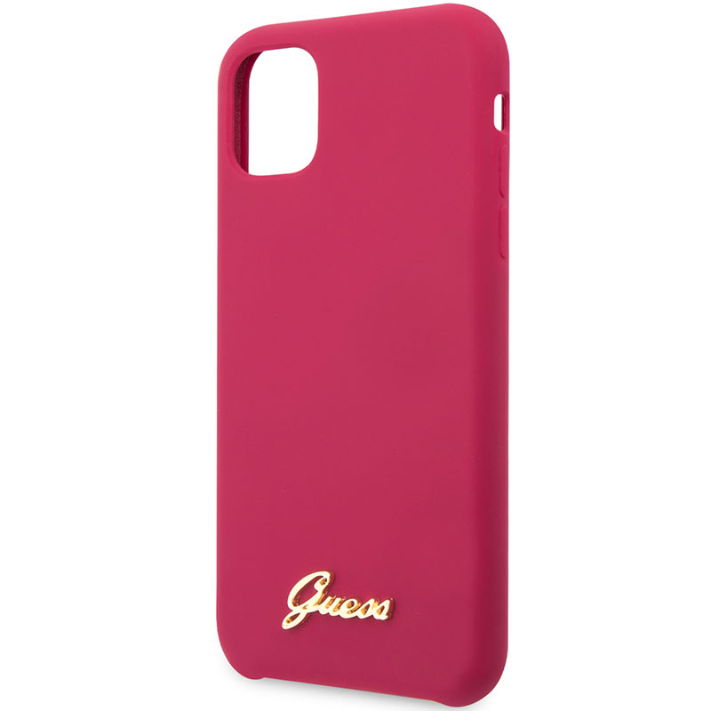 Guess Silicone Vintage Burgundy Coque iPhone 11
