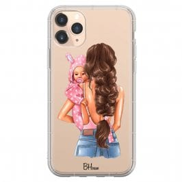 Mother Brunette With Girl Coque iPhone 11 Pro Max